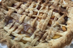 Love the lattice top to the peach pie!