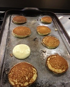 ricotta pancakes on grill